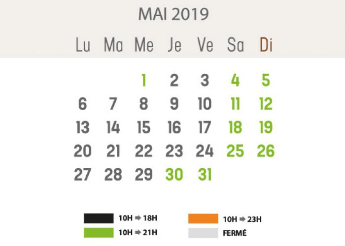 Horaires - mai 2019
