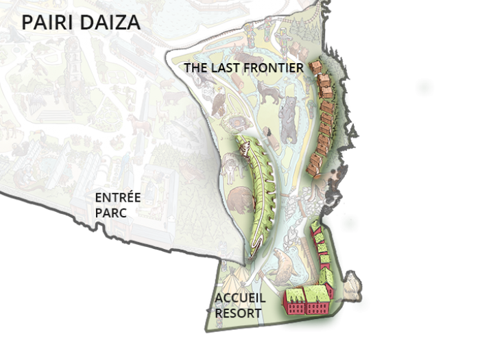 Plan Pairi Daiza resort dans le parc
