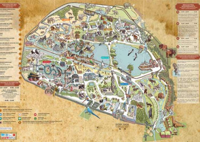 téléchargez le plan de Pairi Daiza, avec la Dernière Frontière et la Terre du Froid